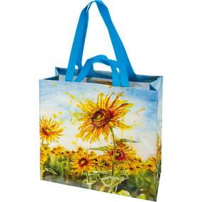 sunflower fields market tote