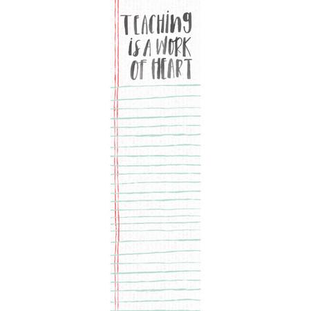 teaching is a work of heart list notepad
