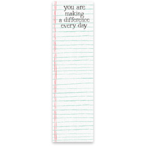 making a difference list notepad