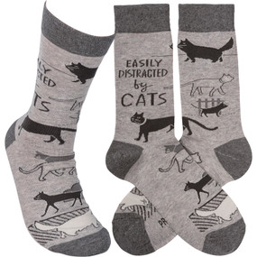 easily distracted by cats womens socks