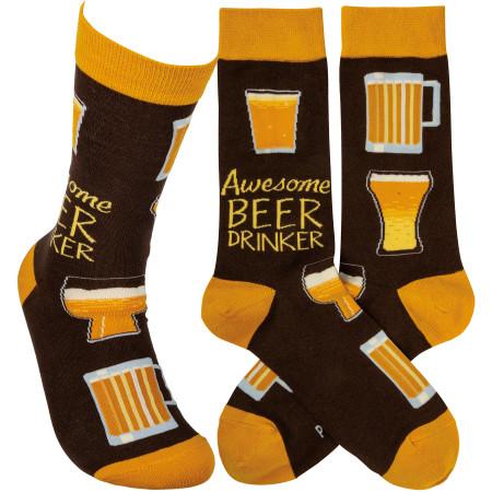 awesome beer drinker mens socks