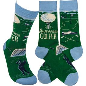 awesome golfer mens socks