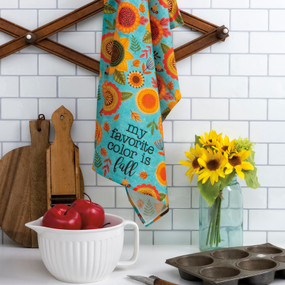 my favorite color is fall dish towel