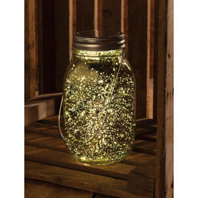 champagne colored glass lantern