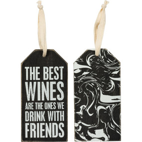 best wines we drink with friends bottle tag