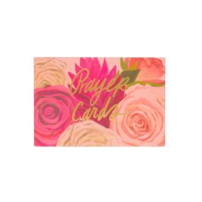 prayer card set, floral