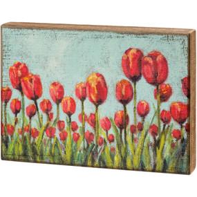tulips box sign