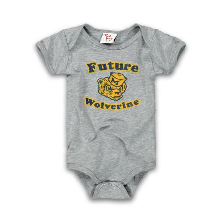 future wolverine onesie, 6 months, 12 months