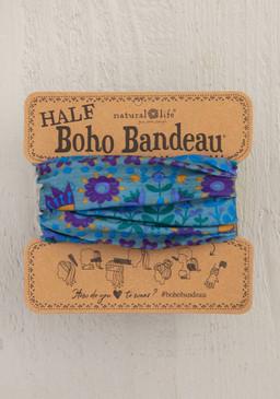 blue floral mandala half boho bandeau