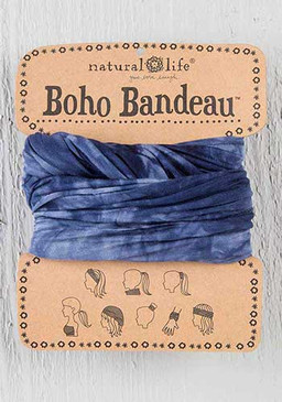 navy and white tie dye boho bandeau