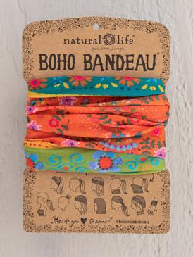 orange green borders boho bandeau