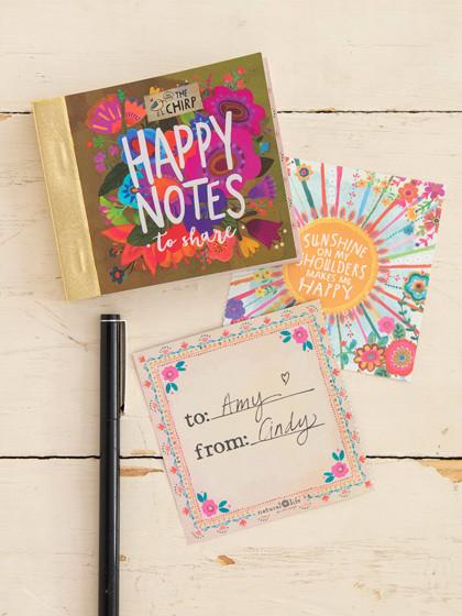mustard floral happy notes