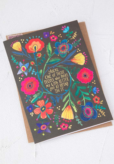 you make life better love, friendship card