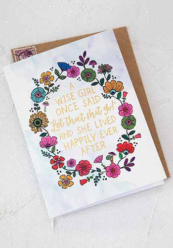 wise girl inspirational greeting card
