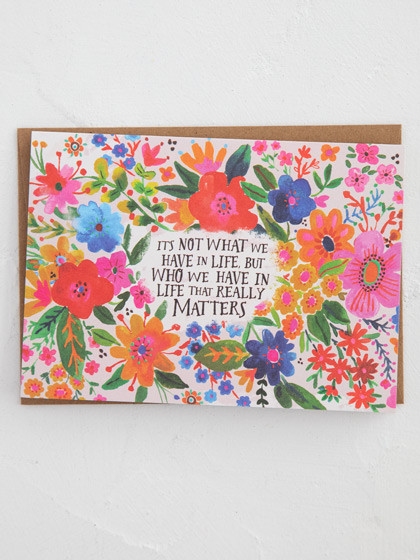 it's not what we have inspirational card