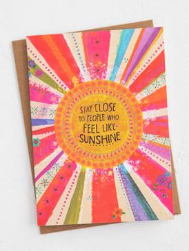 people who feel like sunshine  friendship greeting card