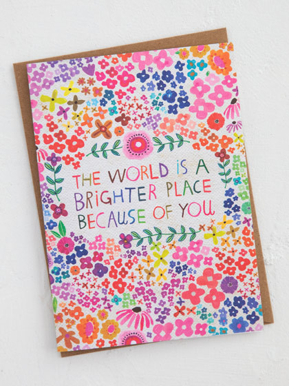 brighter place friendship greeting card