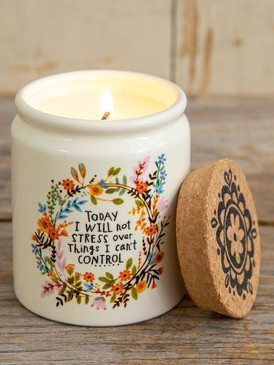 will not stress ceramic jar candle
