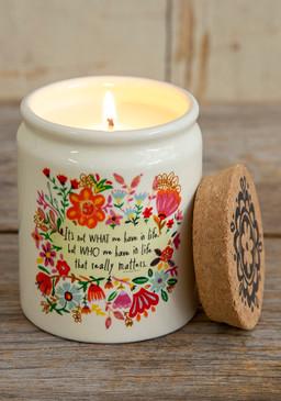 in life ceramic jar candle