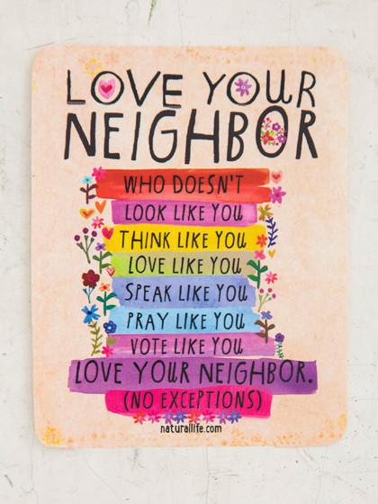 love your neighbor sticker