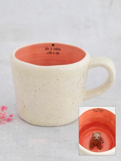 peek-a-boo cat mug