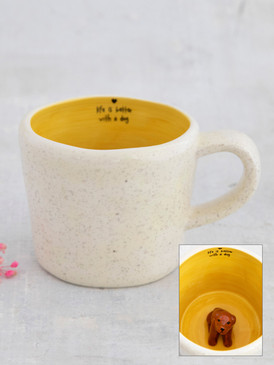 peek-a-boo dog mug