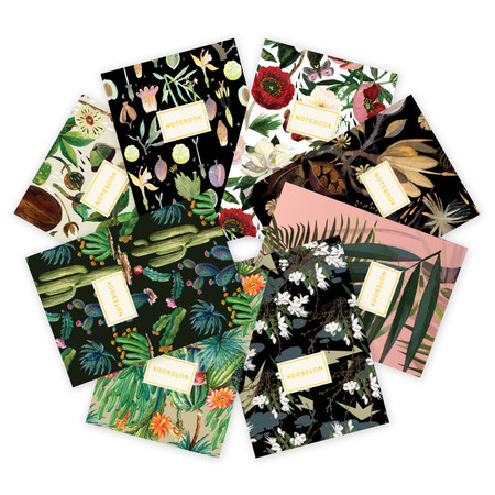 floral notebook collection (assorted)