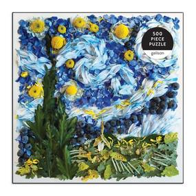 starry night petals 500 piece jigsaw puzzle