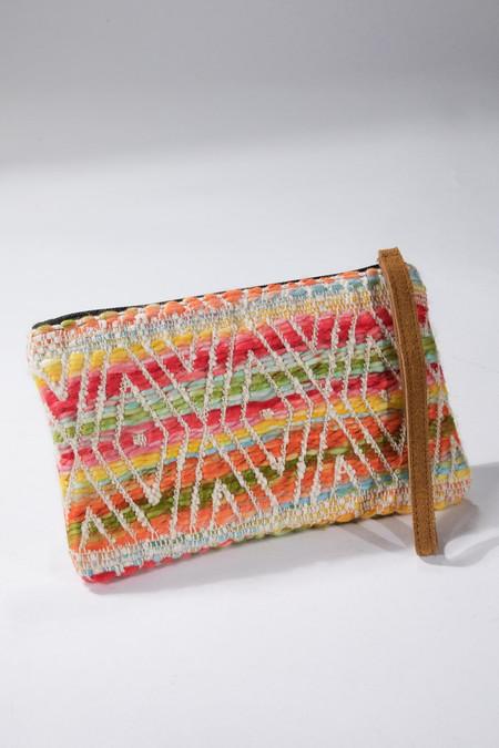 clementine jacquard pattern clutch