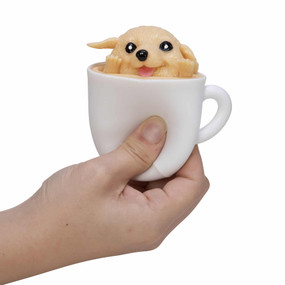 squishy pup in a cup