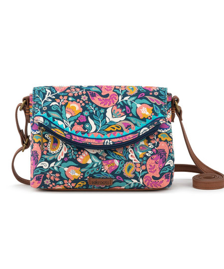 teal enchanted forest pacific mini crossbody