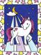 stained glass unicorns, craft