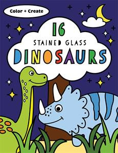 stained glass dinosaurs, craft