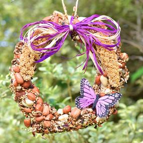 """wreath tweet 6"""", bird seed"""