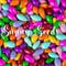 rainbow colored sunny seeds 3 oz.