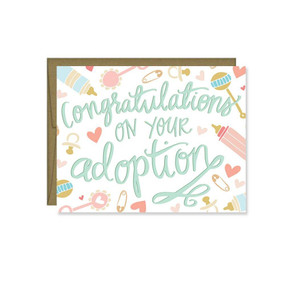 congratulations or your adoption new baby greeting card
