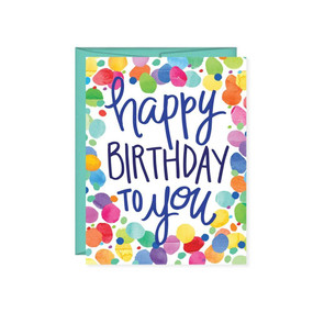 happy birthday to you confetti birthday greeting card