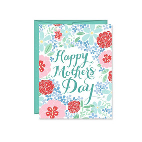 mother's day hydrangeas greeting card