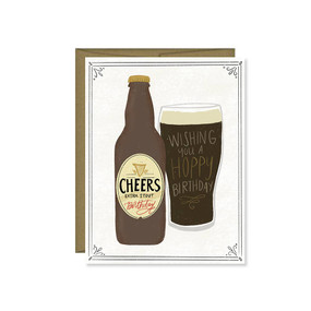 hoppy birthday beer greeting card