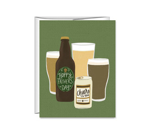 hoppy father's day beer greeting card