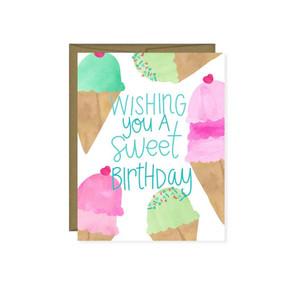 wishing you a sweet birthday greeting card