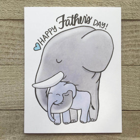 elephant dad father's day card