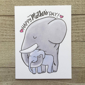 elephant mom mother's day card
