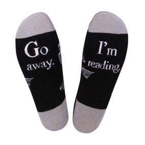 go away i'm reading unisex socks