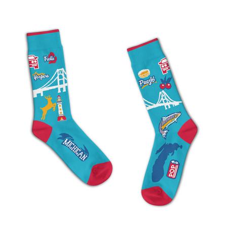 michigan landmarks unisex socks