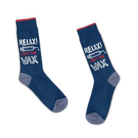 relax i got the vax unisex socks
