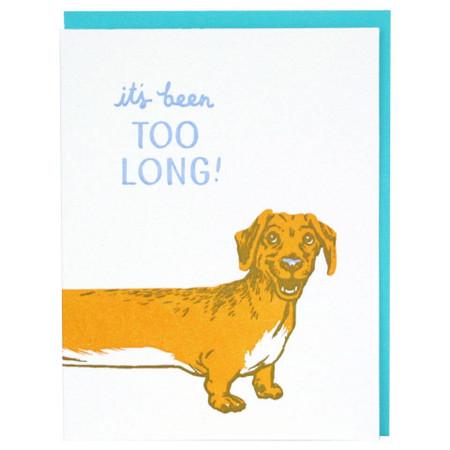 long dachshund friendship greeting card