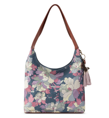 embroidered hermosa hobo, shadow flower