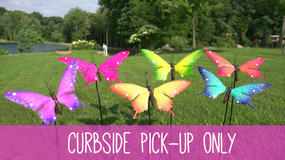 colorful butterfly stakes