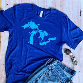 great lakes splash t-shirt